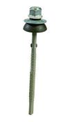 Vis TETALU P13 diam.6,3x115 à aillettes avec rondelle d'étanchéité, pour fibres-ciment sur panne acier ép.5 à 13mm - boite de 100 pièces - Manchon cuivre à souder réduit femelle-femelle 240CU diam.18/16mm sur carte de 2 pièces - Gedimat.fr