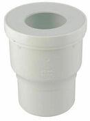 Sortie de cuvette WC PVC droite avec entrée à joint diam.87/107mm sortie diam.100mm coloris blanc NICOLL 1QW33 - Evacuation de WC - Plomberie - GEDIMAT