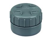 Tampon de visite en PVC avec bouchon diam.80mm - Jeu de 2 fixations pour abattant en laiton chromé - Gedimat.fr