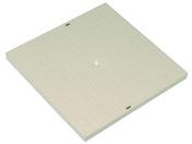 Tampon de sol carré sans cadre dimensions 300x300mm coloris sable - Tuile à douille DC12 diam.150mm coloris pastel occitan - Gedimat.fr