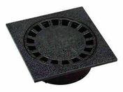 Siphon de cour PVC dimensions 150x150mm coloris anthracite - Tuile de ventilation PLATE 17x27 Phalempin coloris ambre - Gedimat.fr