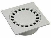 Siphon de cour PVC dimensions 200x200mm coloris gris clair - Tuyau polyéthylène bande bleue diam.20mm en couronne de 25m - Gedimat.fr