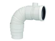 Pipe de WC orientable mâle femelle PVC avec prise d'aération femelle diam.40 blanc - Evacuation de WC - Salle de Bain & Sanitaire - GEDIMAT