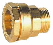 Raccord droit laiton mâle pour tuyau polyéthylène 26x34 diam.32mm - Vanne à sphère en laiton nickelé poignée longue mâle/femelle 20x27 - Gedimat.fr