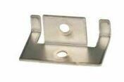 Clips inox de début et de fin pour lames de terrasse en bois composite FOREXIA & ATMOSPHERE + vis 10 pièces - Plot réglable pour lambourde hauteur de 20 à 30 mm - Gedimat.fr