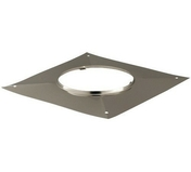 Plaque supérieure d'étanchéité carrée pour tuyau de diam.200mm - Tubages rigides - Couverture & Bardage - GEDIMAT