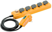 Bloc 5 prises PRO-LINE IP44 avec câble 2m HO7 RN-F 3G1,5 et avec fiche differentielle 30ma - Multiprises - Electricité & Eclairage - GEDIMAT