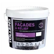 Peinture monocouche haute résistance TOLLANE pour façades à relief aspect minéral pot de 10L coloris blanc - Peintures façades - Peinture & Droguerie - GEDIMAT