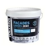 Peinture monocouche FACADES LISSES 2EN1 aspect mat profond pot de 10L coloris blanc - Peintures façades - Peinture & Droguerie - GEDIMAT