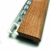 Nez de marche bois lisse chêne 11,5x46mm - 2,5m - Accessoires pose de carrelages - Revêtement Sols & Murs - GEDIMAT