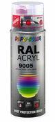 Bombe de peinture RAL 9005 Noir foncé - Brillant Duplicolor - Bombes de peinture - Peinture & Droguerie - GEDIMAT