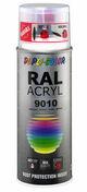 Bombe de peinture RAL 9010 Blanc pur - Brillant Duplicolor - Bombes de peinture - Peinture & Droguerie - GEDIMAT