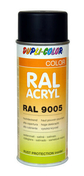 Bombe de peinture RAL 9005 Noir foncé - Satiné Duplicolor - Bombes de peinture - Peinture & Droguerie - GEDIMAT