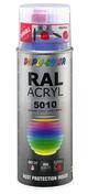 Bombe de peinture RAL 5010 Bleu gentiane - Brillant Duplicolor - Bombes de peinture - Peinture & Droguerie - GEDIMAT
