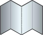Angle intérieur en aluminium pour bardage en clins CEDRAL- OPERAL long.3,00m bleu lavande - GEDIMAT - Matériaux de construction - Bricolage - Décoration