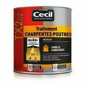 Traitement poutres/charpentes TX202  - pot 5l+20% - Traitements curatifs et préventifs bois - Peinture & Droguerie - GEDIMAT