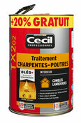 Traitement charpentes poutres TX202 pot de 5L+ 20% gratuit incolore - Bois Massif Abouté (BMA) Sapin/Epicéa traitement Classe 2 section 100x240 long.8m - Gedimat.fr