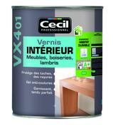 Vernis intérieur boiseries, lambris VX401 pot de 500ml incolore satiné - Produits de finition bois - Peinture & Droguerie - GEDIMAT