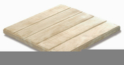 Dalle caillebotis RIVA en pierre reconstitu�e aspect bois �p.3,4cm dim.50x50cm ton pin - Pav�s - Dallages - Mat�riaux & Construction - GEDIMAT