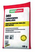 Microfibres polypropylène pour chapes et mortiers 360 LANKOFIBRES 100g - Gouttière PVC à coller NICOLL OVATION LG282B long.2m coloris blanc - Gedimat.fr