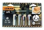 Blister de 4 fraises droites HM diam 8/10/15/20mm queue 8mm - Consommables et Accessoires - Outillage - GEDIMAT
