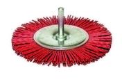 Brosse nylon circulaire diam 75 ep.9 fix.6x30 grain rouge - Lasure bois protection forte indice 45 LX545 pot de 5L satinée chêne - Gedimat.fr
