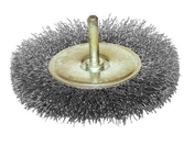 Brosse circulaire diam 100 ep.12- tige de 6-fils acier ondule 0.30 - Outillage du peintre - Outillage - GEDIMAT