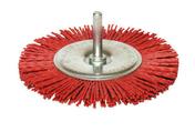 Brosse nylon circulaire diam 100 ep.9 fix.6x30 grain rouge - Outillage du peintre - Outillage - GEDIMAT