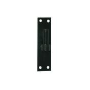 Gond plat bout carré verticale en acier diam.16mm finition noir - Kit main courante long.2m alu noir - Gedimat.fr