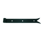 Penture droite queue de carpe en acier diam.16mm long.80cm cataphorèse noir - Demi-tuile DOUBLE HP20 coloris flammé rustique - Gedimat.fr