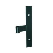 Té bout carré en acier diam.14mm haut.25cm section 30x4mm cataphorèse noir - Arrêt de portail à sceller H.250mm pour épaisseur de 30 à 70mm Noir - Gedimat.fr