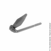 Arrêt tourniquet marseillais tire fond à sceller en acier long.115mm finition bichromatée - Quincaillerie de volets - Menuiserie & Aménagement - GEDIMAT