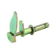 Arrêt tourniquet marseillais avec butée chevillé en acier long.105mm finition bichromatée - Quincaillerie de volets - Menuiserie & Aménagement - GEDIMAT