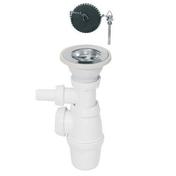 Siphon pour évier 1 bac diam.60 mm avec prise machine à laver - Bois Massif Abouté (BMA) Sapin/Epicéa non traité section 60x240 long.6,50m - Gedimat.fr