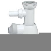 Siphon universel pour lavabo et évier TOUT EN UN finition blanche avec prise machine à laver - Manchon réduit à sertir pour tubes multicouches NICOLL Fluxo diam.40/32mm - Gedimat.fr