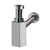 Siphon de lavabo laiton chromé CAREIS - Receveur rectangulaire à poser EMILIE grès haut.10cm larg.80cm long.100cm blanc - Gedimat.fr