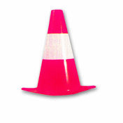 Balise de signalisation rouge/blanc fluo polyéthylène hauteur 30 cm - Signalisation - Outillage - GEDIMAT