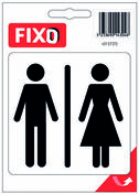 Autocollant toilettes mixtes - 100x100mm - Signalisation - Outillage - GEDIMAT