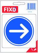 Autocollant sens circulation obligatoire - 100x100mm - Signalisation - Outillage - GEDIMAT