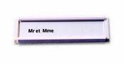 Plaquette d'identité blanc PVC - 94x82x8mm - Signalisation - Outillage - GEDIMAT