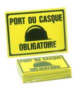Panneau port du casque obligatoire 300x200mm - Signalisation - Outillage - GEDIMAT