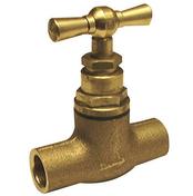 Robinet d'arrêt laiton brut à souder pour tube cuivre diam.12mm avec lien 1 pièce - Robinetterie du bâtiment - Plomberie - GEDIMAT