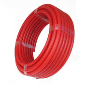Tuyau PER polyéthylène réticulé nu coloris rouge diam.12mm en couronne de 25m - Demi-tuile ALPHA 10 coloris rouge - Gedimat.fr