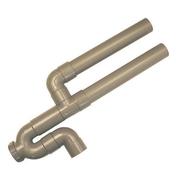 Siphon double m.a.l ø40 sortie horizontale s-cav 1 pièce - Chauffe-eau et Accessoires - Plomberie - GEDIMAT