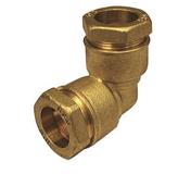 Coude laiton égal pour tuyau polyéthylène diam.20mm avec lien 1 pièce - Tubes et Raccords d'alimentation eau - Plomberie - GEDIMAT
