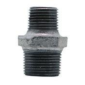 Mamelon réduit acier galvanisé double mâle FG245 diam.15x21mm réduit diam.12x17mm avec lien 1 pièce - Coude plastique mâle diam.15x21mm pour branchement tube polyéthylène diam.20mm en vrac 1 pièce - Gedimat.fr