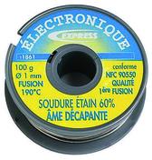 Soudure étain 60% étain fil diam.1mm bobine de 100g - Soudure - Outillage - GEDIMAT