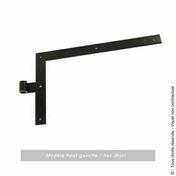 Equerre bout carré en acier haut.25cm larg.30cm cataphorèse noir - Arrêt de portail à sceller H.250mm pour épaisseur de 30 à 70mm Noir - Gedimat.fr