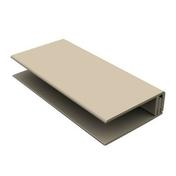 Profil de bordure PVC clipsable pour bardage cellulaire original 18 x 47 mm Long.5 m Gris Foncé - Profil PVC départ clipsable ép.5 à 8 mm long.2,60m grey - Gedimat.fr