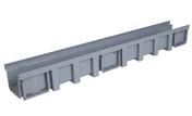 Caniveau hydraulique modulaire polypropylène NICOLL CAN177 gamme connecto haut avec feuillure et emboîture mâle-femelle larg.130mm long.1m - Rive ronde gauche à emboîtement CANAL S coloris rouge - Gedimat.fr